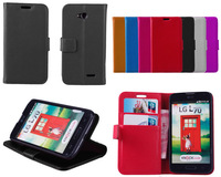 Free Shipping for LG L70 D320 D325 Luxury Wallet Stand Leather Case With Card Holder 2014 New Cell Phone Cases + Touch Stylus