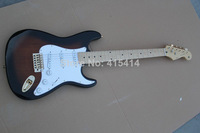 Free shipping Top Quality stratocaster custom body 6 string made in usa guitar Gold Hardware Electric Guitar  huahui2