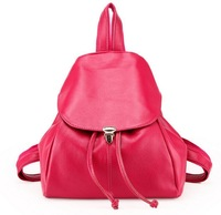 2014 New Girl's genuine leather candy color backpacks ,women's backpack,student bag,small backpacks