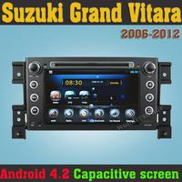 Android 4.2  PC Car DVD Car Stereo GPS Navigation For Suzuki Grand Vitara 2006 2007 - 2011 2012 Capacitive Touch Screen + WiFi