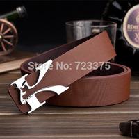2014 south Korean brand New fashion leisure joker Men belt,Hollow out Lady 100% PU belt,Letters metal belts buckle Free shipping