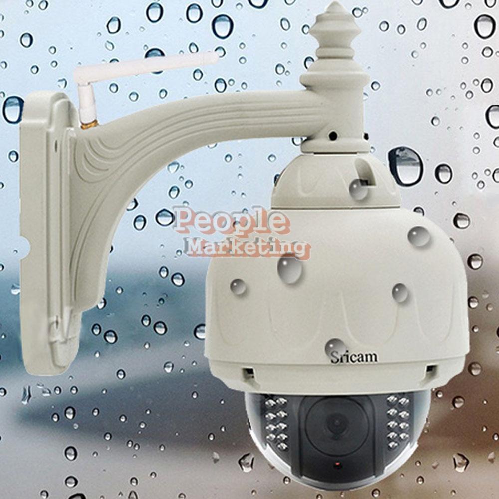 Sricam CMOS HD H.264 Wireless PTZ Dome Wifi Network