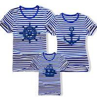 Free shipping autumn spring child women's men's 3pcs family sets short sleeve cotton t shirt Parent-child outfit