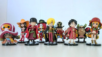 cartoon action figures ONE PIECE film edition Roronoa Zoro Nami Sanji Buccaneers and friends pirate models 9 pcs a lot