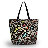 Leopard Prints Soft Foldable Tote Women's Shopping Bag Shoulder Bag Lady Handbag