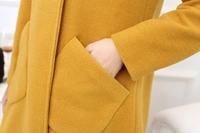 Coat length cloak coat girl