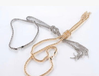 Aluminum metal necklace / sweater chain