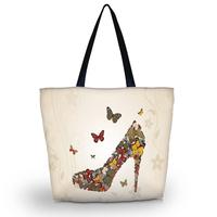 Butterfly Shoe Soft Foldable Tote Women's Shopping Bag Shoulder Bag Lady Handbag