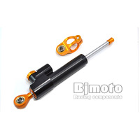 BJ-SD-001  Black Universal High Quality CNC Alloy motorcycle Adjustable Steering Damper For Kawasaki f6