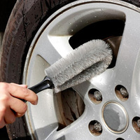 Freeshipping New Arrival Auto Tire/Wheel Washing/Scrubing Tools Car Rim Cleaning Brush Multifunction Thick Hair