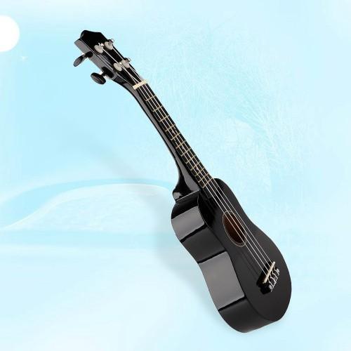"Vintage 21"" Acoustic Soprano Hawaii Strings Ukulele Musical Instrument black Free shipping(China (Mainland))"