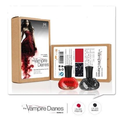 Vampire diaries nail polish A set of 2 colors Thematic suit series Nail art tool Hand makeup nail products Nail gel(China (Mainland))