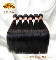 Queen Hair brazilian virgin hair straight 4pcs brazilian virgin hair cheap high quality thick human hair weave straight