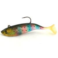 """Free Shipping 10Pcs  Lifelike Colorful Silicone Soft Fishing Lure Swimbait Bait, Bass Grouper Catfish Killer Bait 4.33""""/0.7oz"""