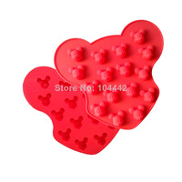New style Cupcake Food Grade Cute Mickey Mouse Shape Silicone Chocolate Mold / Cake Mold / Cookie Mould