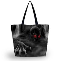 Ghost  Shopping Tote Bag Utility shoulder Bag Zip Handbag School Bag shopping bag free shipping