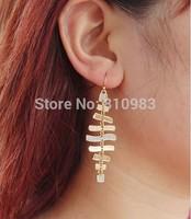 New Arrival drop earrings for women fish bone gold silver long earrings
