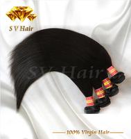 6A unprocessed brazilian virgin hair straight 100% remy human hair 3/4pcs bundles 8-32'' top quality straight weaves