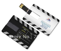 Free DHL: 300pcs/lot 2GB Credit card USB flash drive with free logo printing flash pendrive