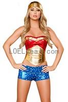 Sexy 3 PC Wonder Heroine Costume
