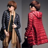 New Winter jacket Woman's Outerwear Slim Hooded Down Jacket Woman Winter Warm Down Coat Woman Light White Duck Down