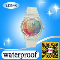 2014 New willis women watches ladies dress watches Galaxy rhinestone watch fashion watch Transparent Watchband kids wristwatch