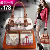 Bags 2014 women's handbag women's handbag messenger bag fashion casual vintage print female shoulder bag