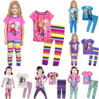 New arrival Children Pajama Sets Frozen Elsa Anna sleepwear Spiderman boys pyjamas sets sofia nightgown kids clothing