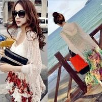 2014 best selling summer dress vestidos Vintage cutout tassel shirt batwing sleeve cardigan coat cape