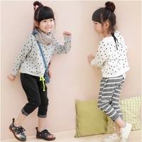 Princess children's clothing 2014 autumn child polka dot sweater thin loose female child top long-sleeve autumn