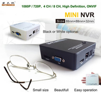Free shipping Onvif 15 languages Network video recorder 720P 1080P 4ch mini NVR for ip camera support audio R-AM04NF