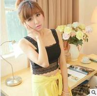 Free shipping fashion women's clothing joker lace hook flower sweet sling render unlined upper garment that wipe a bosom