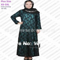 lace+chiffon party abaya ,new arrival! muslim abaya for women, dubai design fancy jilbab, wedding abaya, free shipping
