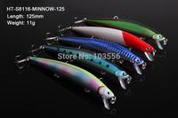 5 X Premium Quality Minnow 12.5cm 11g Fishing Lure Fishing Tackle