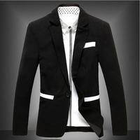 M-2XL 2014 Top New Brand Man Blazer Double Stand Collar Wedding Slim Men's Jackets Male Coats Men Outdoor Dress Blazers AX494