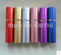 10ml lipstick tube type perfume bottle aluminum + glass bottle with drill 2pcs/lot