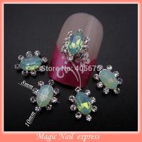 MNS517  Glitter rhinestone Nail gems stone flatback 3d alloy charms  50pcs