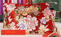 114073008 silk double side  printed Silk Pillowcase size 74cm*48cm+3cm good quality  pillow cover