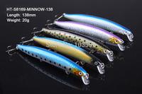 5 X Premium Quality Minnow 13.8cm 20g Fishing Lure Fishing Tackle