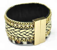 HB085 High Quality Fashion handmade multilayer France popular Bracelets Brazilian Bohemia jewelry with magnetic clasp 6pcs/lot