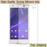 High Quality Screen Protector with Retail Package Clear For Sony Xperia C3 D2533 D2502 Free Shipping DHL UPS HKPAM CPAM