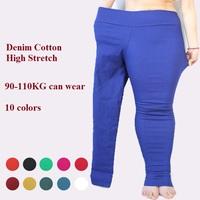 high stretch denim cotton leggings women winter pants Plus size jeans above 120KGS leggings fat women pants bodycon pants 5XL