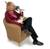 Creepy Horse Mask Head Halloween Costume Theater Prop Novelty Latex Rubber  is used to show the party activities