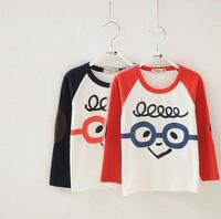 2014 Hot Roupa Infantil Brand Autumn Winter Baby Boys Girls Glasses Cotton Kids T Shirt Clothes Shirts Chemister Children