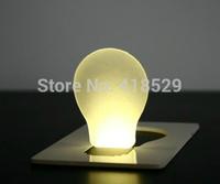 20pcs LED night Light mini Card light Portable Wallet Purse Credit Card Size Pocket LED Nightlight Bulb Lamp Free Shipping 1834