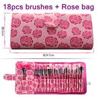18 Pcs hotsale  Professional Makeup Brushes Set & Kits 18pcs Cosmetic tools  Kit  face & eye  Make up  Brush set  18pcs with bag