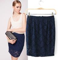 New 2014 Women Vintage Elegant Crochet Lace Skirt Slim Hook Flower Hollow Out Elastic Short Mini Skirts Sexy Lace Skirts 2372