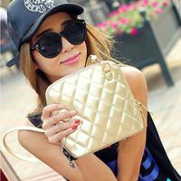 Wholesale 2014 new fashion Quilted Shoulder Messenger Bag Mini shell Bucket Bag bucket bag diagonal women