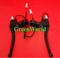 High quality Pair Scooter Bike Handle Free Shipping Brand New Brake Lever with Switch right and left hand J-0105