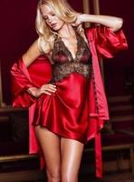 2014 best selling summer dress vestidos cutout silk lace halter-neck sexy nightgown female temptation